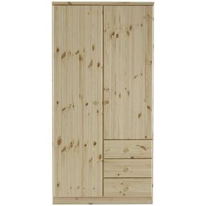 Carryhome: Drehtürenschrank, Holz,Kiefer, Natur, B/H/T 101 202 60