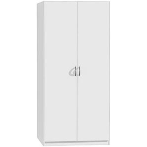 Carryhome: Drehtürenschrank, Holzwerkstoff, Weiß, B/H/T 91 197 54