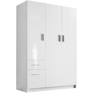 Carryhome: Drehtürenschrank, Holzwerkstoff, Weiß, B/H/T 135 195 55,4