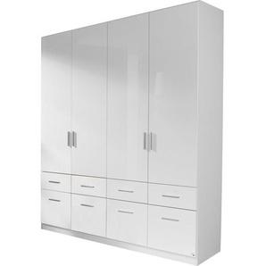 Carryhome: Drehtürenschrank, Holzwerkstoff, Weiß, B/H/T 181 210 54