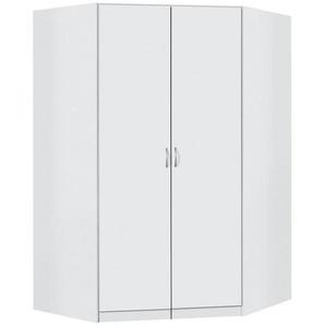 Carryhome: Eckschrank, Holzwerkstoff, Weiß, B/H/T 117 117 197