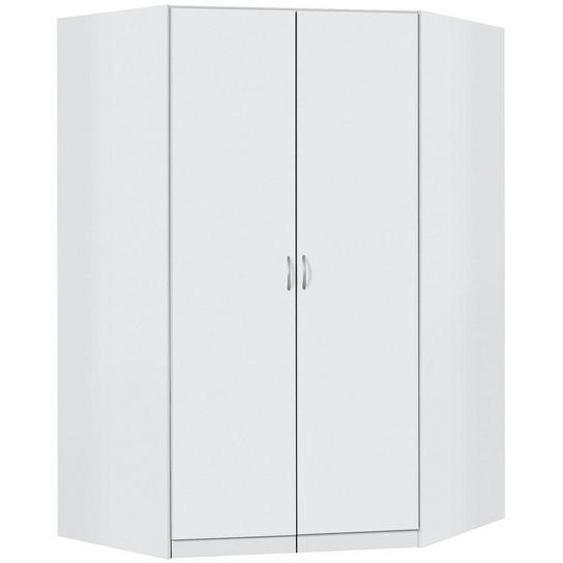 Carryhome Eckschrank Weiß , Holzwerkstoff , 9 Fächer , 117x117x197 cm