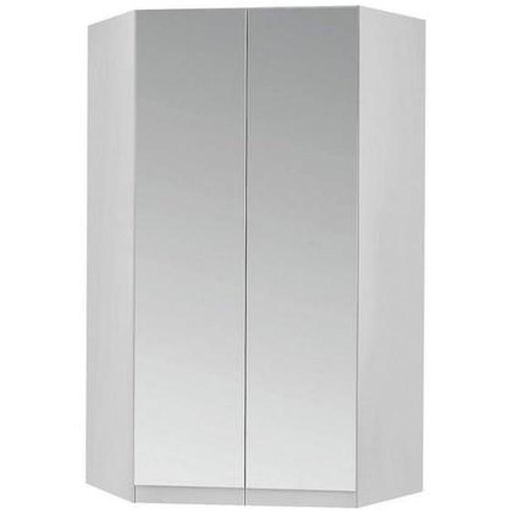 Carryhome Eckschrank Weiß , Holzwerkstoff , 9 Fächer , 117x197x117 cm
