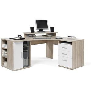 Carryhome: Tisch, Eiche, Weiß, B/H/T 173 75 140