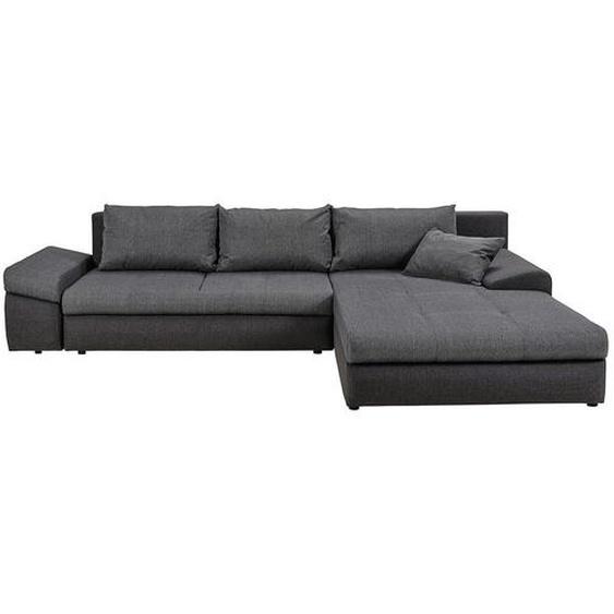 Carryhome Ecksofa Grau, Grau Webstoff , Textil , 4-Sitzer