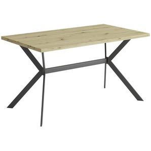 Carryhome Esstisch , Eiche Artisan , Metall , rechteckig , eckig , 80x75 cm , in verschiedenen Größen erhältlich , Esszimmer, Tische, Esstische