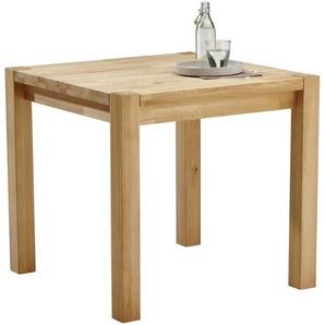 Carryhome Esstisch , Kernbuche , Holz , Kernbuche , massiv , quadratisch , eckig , 80x75 cm , Esszimmer, Tische, Esstische