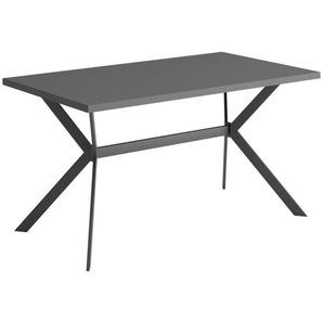 Carryhome Esstisch , Anthrazit , Metall , rechteckig , eckig , 80x75 cm , in verschiedenen Größen erhältlich , Esszimmer, Tische, Esstische