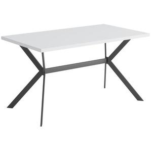 Carryhome Esstisch , Schwarz, Weiß , Metall , rechteckig , eckig , 80x75 cm , in verschiedenen Größen erhältlich , Esszimmer, Tische, Esstische