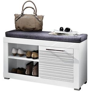 Carryhome: Garderobenbank, Grau, Weiß, B/H/T 92 50 37