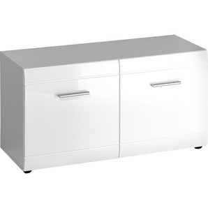 Carryhome: Garderobenbank, Weiß, B/H/T 96 52 40