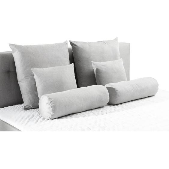 Carryhome Kissensatz , Grau , Textil , Uni