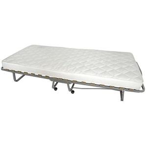 Carryhome Klappbett , Weiß, Alu , Textil , H2 , Höhe ca. 10 cm , 90x204 cm , Schlafzimmer, Betten, Gästebetten