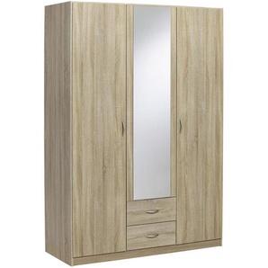 Carryhome: Kleiderschrank, Holz, Sonoma Eiche, B/H/T 136 197 54