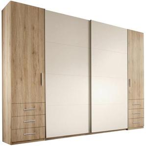 Carryhome: Kleiderschrank, Holzwerkstoff, Weiß, Eiche, B/H/T 267 226 58