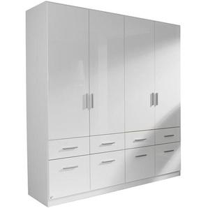 Carryhome: Kleiderschrank, Holzwerkstoff, Weiß, B/H/T 181 197 54