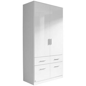 Carryhome: Kleiderschrank, Weiß, B/H/T 91 197 54