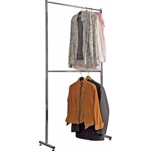 Carryhome: Kleiderständer, Chrom, B/H/T 90 193 42