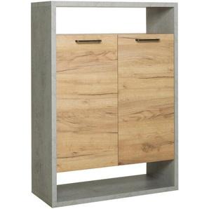 Carryhome: Kommode, Holzwerkstoff, Eiche, B/H/T 76 108 33