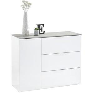 SIDEBOARD Hochglanz Grau, Weiß