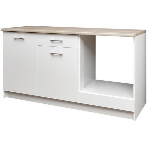 Carryhome Küchenleerblock , Weiß, Beige , 1 Schubladen , 160 cm