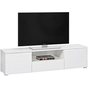 Carryhome: Lowboard, Weiß, B/H/T 165 42 40