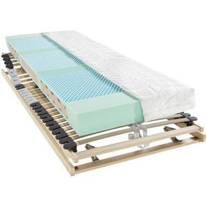 Carryhome Matratzenset , 2-teilig , H2 , Höhe ca. 18 cm , 120x200 cm , Härtegradauswahl, Über- und Sondergrößen erhältlich, Bezug abnehmbar/waschbar, für Hausstauballergiker geeignet, wendbar, verstellbare Lattenroste atmungsaktiv, aktive
