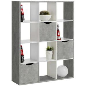 Carryhome: Raumteiler, Grau, Weiß, B/H/T 110 146 34