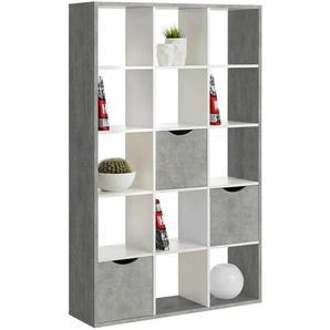 Carryhome: Raumteiler, Grau, Weiß, B/H/T 110 181 34