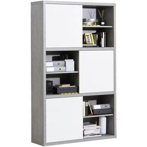 Carryhome: Regal, Holzwerkstoff, Grau, Weiß, B/H/T 120 195 35,6