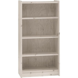 Carryhome: Regal, Holz,Kiefer, Weiß, B/H/T 64 123 38