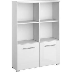 Carryhome: Regal, Holzwerkstoff, Weiß, B/H/T 92 131 34