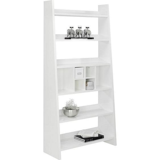 Carryhome Regal Weiß , Holzwerkstoff , 6 Fächer , 100x205x38 cm
