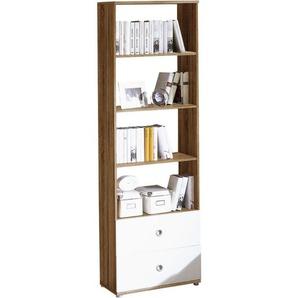 Carryhome: Regal, Holzwerkstoff, Weiß, Sonoma Eiche, B/H/T 60 190 33