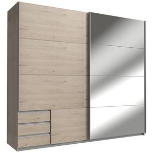 Carryhome: Schwebetürenschrank, Holzwerkstoff, Eiche, B/H/T 225 208 64