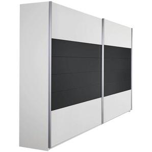 Carryhome: Schwebetürenschrank, Holzwerkstoff, Grau, Weiß, B/H/T 226 210 62