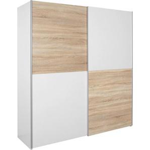 Carryhome: Schwebetürenschrank, Holzwerkstoff, Eiche, Weiß, B/H/T 170 195 63