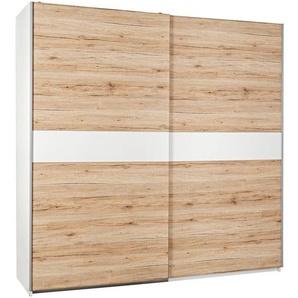 Carryhome: Schwebetürenschrank, Holzwerkstoff, Eiche, Weiß, B/H/T 215 210 63