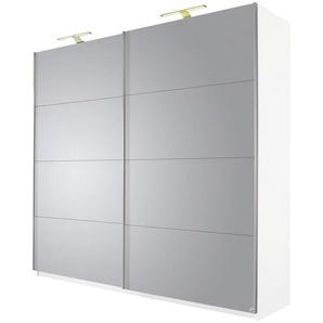 Carryhome: Schwebetürenschrank, Holzwerkstoff, Weiß, B/H/T 136 236 69