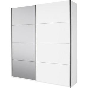 Carryhome: Schwebetürenschrank, Holzwerkstoff, Weiß, B/H/T 181 210 62