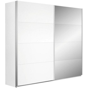 Carryhome: Schwebetürenschrank, Holzwerkstoff, Weiß, B/H/T 226 210 62