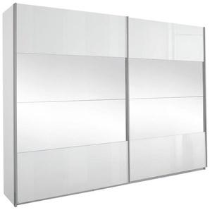 Carryhome: Schwebetürenschrank, Holzwerkstoff, Weiß, B/H/T 271 229 57