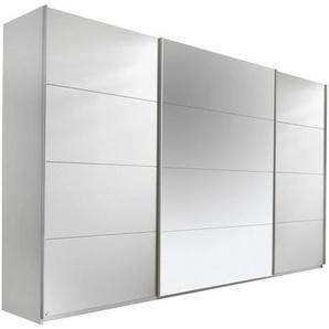 Carryhome: Schwebetürenschrank, Holzwerkstoff, Weiß, B/H/T 315 210 62