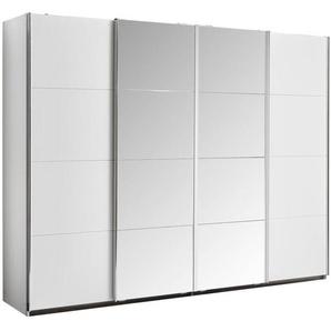 Carryhome: Schwebetürenschrank, Holzwerkstoff, Weiß, B/H/T 271 211 62