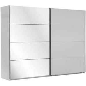 Carryhome: Schwebetürenschrank, Holzwerkstoff, Weiß, B/H/T 225 210 59