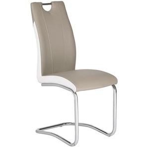Carryhome: Stuhl, Weiß, Hellbraun, B/H/T 44 103 57,50