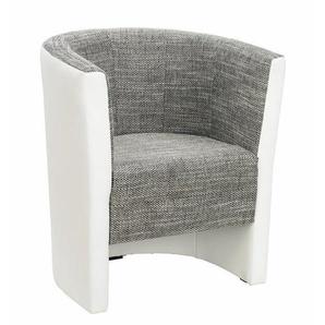Carryhome: Sessel, Grau, Weiß, B/H/T 70 77 60
