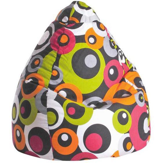 Carryhome Sitzsack Kreise Braun, Mehrfarbig, Rosa , Textil , 120 L , 70 cm
