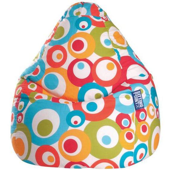 Carryhome Sitzsack Kreise Mehrfarbig , Türkis , Textil , 120 L , 70 cm