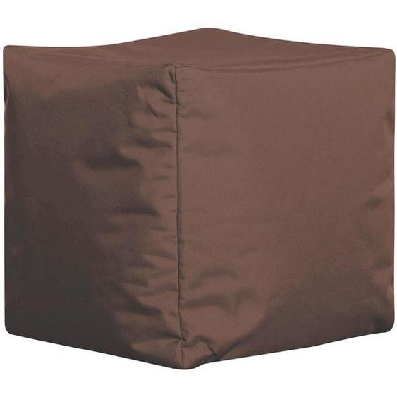 Carryhome Sitzwürfel Braun , Textil , 40x40x40 cm